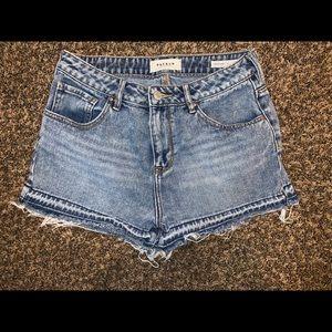 Pacsun Blue Jean Denim Shorts Size 27 High Rise